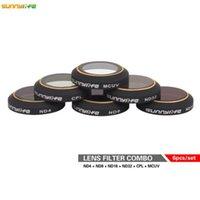 Wholesale Hd Filters - New Arrival !!! Sunnylife 6pcs Mavic Ultra-thin Lens High Transmittance ND4ND8 ND16 ND32 CPL MCUV Filter HD Camera Lens Filter for DJI Mavic