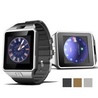 montre iphone achat en gros de-DZ09 Smart Watch Bluetooth Dispositifs portables Smartwatch Pour iPhone Android Téléphone Montre-bracelet avec horloge de l'appareil photo SIM / TF Slot Montres de luxe Homme