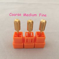 Wholesale Carbide Nail Drill - 3pcs(Coarse,Medum,Fine) Professional Carbide Electric nail drill bit for Nail Art Drill Machine Manicure Pedicure Tool