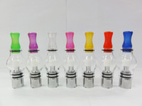 Wholesale Dry Herb Bulbs - AAAAA Glass Globe Atomizer Dry Herb Vaporizer coloful Clearomizer Wax tank for Ecigarette tank huge vapor eGo Series glass bulb Free DHL