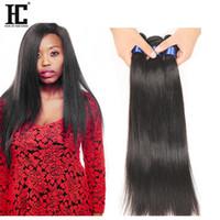 Wholesale brazilian unprocess - HC 8A Unprocess Brazilian Virgin Hair Straight 3 Bundles Human Hair Extensions Weave Weft Thick Wholesale 300g