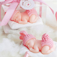 Wholesale candle baby - 10pcs Pink Cute Baby Candle For Wedding Party Birthday Baby Shower Souvenirs Gifts Favor NEW ARRIVAL