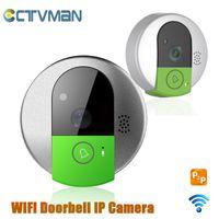 Wholesale Intercom Video Doorbell Two - CCTVMAN Wireless Video Door Intercom IP Doorbell Video Porteiro WIFI IP Door Phone 720P Camera Two way Audio Talk TF Card Slot