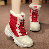 Wholesale korean high heel boots - The explosion of new shoes and winter snow boots all-match cashmere high Korean women shoes on behalf of a waterproof strap