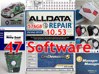 Wholesale Chevrolet 47 - Hot !!! Newest alldata 10.53 mitchell on demand + mitchell heavy truck+mitchell manager 47 in1 all data 1tb hdd