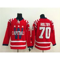 Wholesale Cheap American Mens Sportswear - Cheap Red Winter Classic Hockey Jerseys Capitals #70 Braden Holtby Ice Hockey Wear New Arrival American Hockey Apparel Best Mens Sportswear