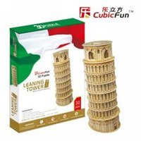 Wholesale 3d puzzle cubicfun - Wholesale-Authentic joy cubicfun 3D puzzle paper model toy MC053H Italy Leaning Tower of Pisa - Deluxe Edition