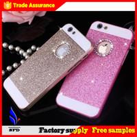 Wholesale Iphone Glittery Cases - Bling bling Glitter Glittery Sparkle Case Bling Hard Plastic Case For iphone 6 case for iphone 6 plus iphone 5 Free DHL