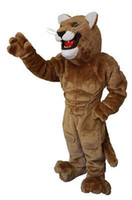 Wholesale Costume Cougars Mascot - Brown Cougar Mascot Cartoon EVA Costume Animal Fancy Dress Halloween Costumes Free shippingBurly