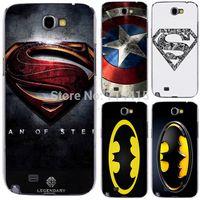 Wholesale Batman Logo Hard Case - Wholesale-1PCS 3D Logo for Super hero Batman hard back cover case for Samsung galaxy Note 2 II N7100 note2 mobile phone case
