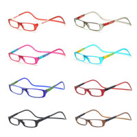 Wholesale Values Color - Wholesale-2016 NEW 10PCS Value Pack Bi-color Folding Magnetic Reading Glasses Women Men Plastic Readers Eyeglasses+1.0+1.5+2.0+2.5+3.0+3.5