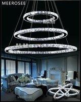 Wholesale Chandelier Led Light Lamp - Modern LED Crystal Ring Chandeliers Pendant Light Energy Saving Crystal Light Cristal Pendant Lamp DIY Style MD8825