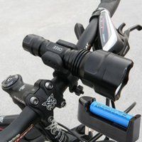 Wholesale Cree Xml C8 T6 Batteries - New Waterproof 2000LM CREE XML T6 LED C8 Cycling Light Bright Torch+Charger+18650 battery+360 degree Mount Bracket + AC Adapter order<$18no