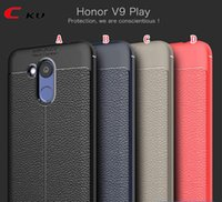 Litchi Shockproof TPU Gel Soft Case para Huawei Honra V9 Lay OnePlus 5T 3 3T MOTO Z2 Força Defender Armor Anti Skid Phone Skin Cover 50pcs