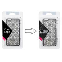 caso del oem de encargo al por mayor-Bolsas de empaque de plástico OEM para la caja del teléfono para iPhone X Bolsos de cremallera mate personalizados para iPhone 8