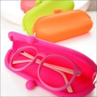Wholesale Candy Soft Silicone Purse - Candy Colors Waterproof Bags Silicone Sunglasses Pouch Soft Eyeglasses Bag Glasses Case Rubber coin purse multicolor 10pcs