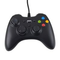 Wholesale New Games Xbox - USB Wire Game controller Xbox 360 gamepad black PC XBOX360 Joypad joystick Vlbration Ugame XBOX360 accessory For Laptop computer PC New