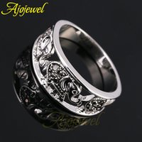 Wholesale Gold Animal Jewelry Wholesale - Size 6-9 Vintage Animal Jewelry 18K White Gold Plated Elephant Ring For Women Men