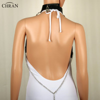 Wholesale chain harness jewelry for sale - Group buy Chran Leather Harness Bondage Beach Chain Collar Goth Choker Shoulder Necklace Jewelry Accessories Erotic Lingerie Zinc Alloy