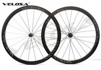 Wholesale tubular race wheels - Velosa RACE 35 road bike 700C carbon wheels,38mm clincher tubular,DT 240S hubs Sapim cx ray super light aero wheelset