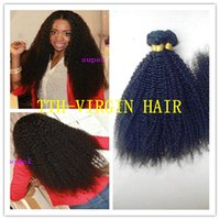 Wholesale Tight Afro Kinky - Brazilian Curly Virgin Hair 8A Kinky Curly Virgin Hair 3PCs 8-30inches Human Hair Extension tight Afro Kinky Curly Hair Weave Free Shipping