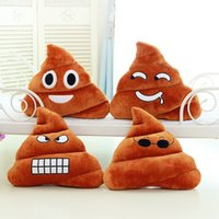 Wholesale Xmas Bedding - Cute Triangle Funny Emoji Poo Shape Pillow Cushion Toy Doll Sofa Decoration Xmas Gift Birthday Bedding Outdoor Chair Home P38