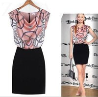 Wholesale office clothing for xl size online - New fashion dress for Women Office lady Clothing Blue Pink L sizes