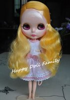 """Wholesale Nude Dolls Small - Wholesale-nude Blyth doll, 12"""" doll, orange hair, left side hair, customize doll for gift, eyechip color is random,small defective"""