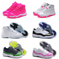 Wholesale Women Army Boots - Cheap High Quality Retro 11 Woman Basketball Shoes bred 72-10 concord Infrared Pink gamma blue legend blue Georgetown sport sneaker Boots