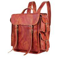 Wholesale Vintage Phone Book Cover - Vintage Genuine Leather backpacks Men travel bags Leather school Bakcpack Bag Hiking Book Bag outdoor sports camping Brown 7238
