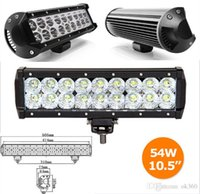 Wholesale Working Cree Led Jeep - 9 Inch Cree 54W LED Light Bar 18*3W Flood Spot Pencil Beam 5400lm IP68 for 4WD 4x4 Offroad Jeep Truck Car Mining Boat LED Work Light