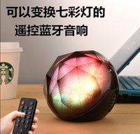 Wholesale Newest Bluetooth Speaker LED Light Colorful Magic Crystal lighting Small Ball Speaker with Remote Control Wireless for Outdoor Home Party