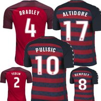 Wholesale Special Usa - 2017 PULISIC United States Gold Cup Red 2018 Soccer Jerseys 17 18 Limited Edition Special USA DEMPSEY BRADLEY ALTIDORE WOOD Footbll Shirts
