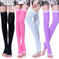 Wholesale Veins Legs - Hot sell Lady Compression Stockings body Shaper Compression Burn Fat Thin Socks Maternity Anti Varicose Veins Stovepipe Socks Sleeping Socks