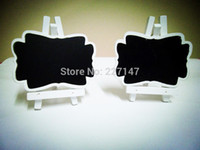 cheap lot white wooden mini blackboard easels name place card holders