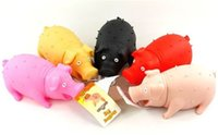Wholesale Screams Pigs - 5pcs lot Pet Rubber Sound Toys Screams Pig Dog Toy Tricky Decompression Vent Toy 6 color S L Free Shipping
