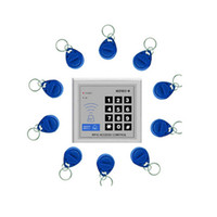cerraduras de seguridad de tarjeta al por mayor-Sistema de control de acceso de bloqueo de la puerta de entrada de proximidad RFID de seguridad 10 teclas Lector de tarjetas de control de acceso 800860