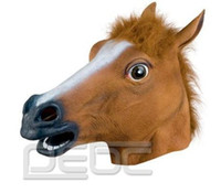 Wholesale Discount Full Silicone - Novelty Creepy Horse Halloween Head latex Rubber Costume Theater Prop Party Mask Offering Discounts silicone mask
