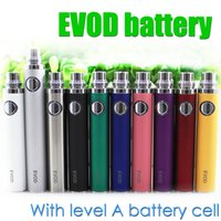 Wholesale Mt3 Bcc Atomizer Evod Tank - Top quality EVOD Battery Level A Battery cell for EVOD BCC MT3 CE4 CE5 protank aerotank BVC BDC glass tank Electronic Cigarette ego atomizer
