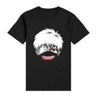 Wholesale Superb Clothing - Wholesale-Fashion Japanese Anime T Shirts Tokyo Ghoul Short-sleeve T-shirts Fitness Superb Men Kaneki Ken Portrait Shirts Clothing Tees