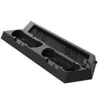 playstation cooling al por mayor-Estación de carga del ventilador de enfriamiento del soporte vertical para PS4 DualShock Controlador de consola PlayStation 4 Puertos de doble cargador USB HUB Enfriador DHL