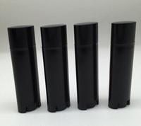 Wholesale Small Lip Balm Tubes - 100pcs 4.5g Empty Lipstick Tube,Oval Black Plastic Lip Balm Container & Small Sample Cosmetic Lip Gloss Sub-bottling