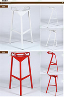 Wholesale Wrought iron chairs bar chairs cafe chairs colorful Transformers highchair manufacturers Special