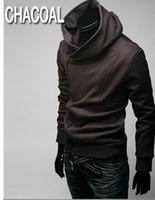 Wholesale Diagonal Zipper Jacket - DORP SHIPPING 2015 HOT Brand New Diagonal zipper Men's Hoodies & Sweatshirts Jacket Coat Size M,L,XL,XXL,XXXL