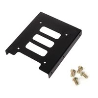 Wholesale Computer Hard Drives Wholesale - Metal Case 2.5 to 3.5 Inch SSD HDD Hard Drive Disk Mounting Adapter Bracket Dock Holder For Notebook PC SSD Computer DIY