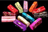 ruj çini toptan satış-Toptan-toptan 12 adet ÇIN EL YAPıMı SILK LIPSTICK KUTUSU KUTUSU + Ücretsiz kargo!