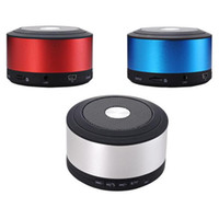 Wholesale hands free mp3 player online - N8S Speakers Bluetooth MM Audio Line in TF Slot Hand Free Sound Card Speaker Black Silver Red Blue DHL Free MIS109