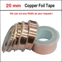 Wholesale Snail Tape - Wholesale-New 20mm x 20M Copper Foil Conductive Adhesive Tape EMI Shielding Guitar Slug and Snail Barrier