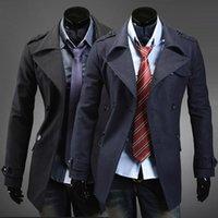 Wholesale Winter Coats Japan - 2014 Men's new winter coat Slim woolen coat double-breasted coat jacket warm coat 3070