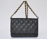 Wholesale Caviar Flap - Free Shipping! Caviar Leather Mini Flap Shoulder Bag Women Single Chain Cowhide Messenger Bag Evening Bag 20CM 33814